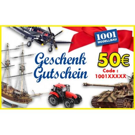 50 EUR Geschenk Gutschein