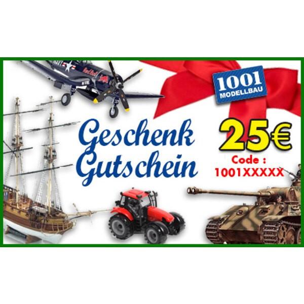 25 EUR Geschenk Gutschein