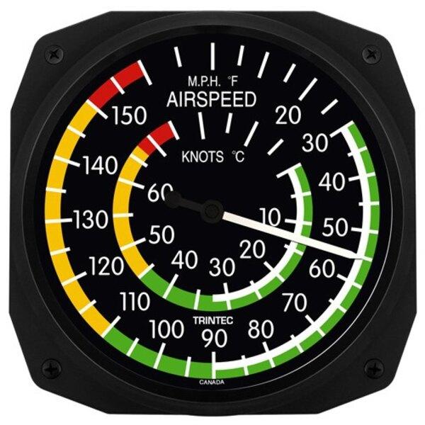 Airspeed Klassische Wandthermometer & C ° F 25x25cm