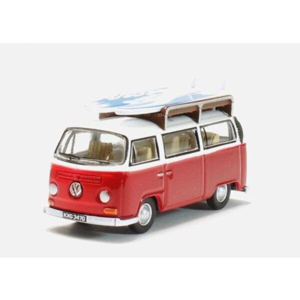 VW VAN Erkerfenster ROT / WEISS MIT VORSTAND