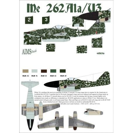Decal Messerschmitt Me 262A-1a / U3