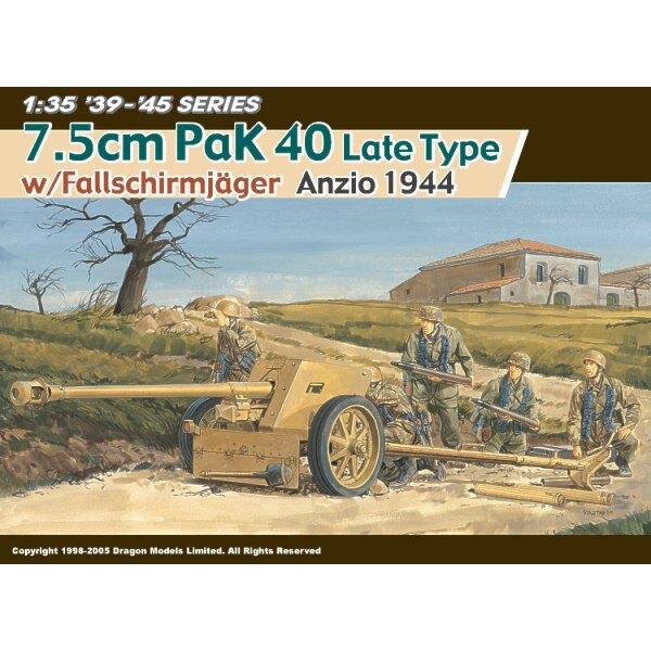 7.5cm Pak-40 Spät Typ mit Fallsschirmjager, Anzio