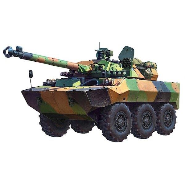 Französisch AMX-10RCR Der Fahrzeugkörper und Revolver sind voll Schweißen von Aluminium-Struktur.Es wird erforscht, entwickelt