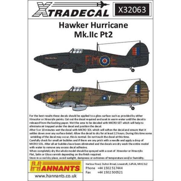 Hawker Hurricane Mk.IIc Pt 2 (3) Serien unbekannt, FM-E Flug-Kommandant Gerald 'Stapme' Stapleton DFC & Bar 257 (Burma) Sqn RAF