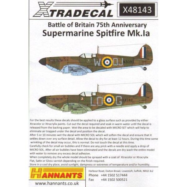Spitfire Mk.Ia Battle of Britain 1940 Pt.1 (6) R6776 QV-H 19 Sqn Ft / Sgt George Unwin RAF Fowlmere - Unbekannt Serien RN-N 72 S