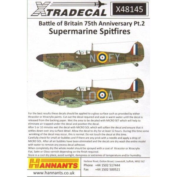 Spitfire Mk.Ia Battle of Britain 1940 Pt.2 1940 Battle of Britain (4) Unbekannt EB-L 41 Sqn P / O Ted Shipman RAF Catterick, Yor