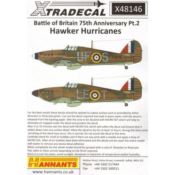 Hawker Hurricane Mk.I 1940 Battle of Britain Pt.2 (5) P3221 SO-K 145 Sqn Flt.Lt AHBoyd RAF Westhampnett, W.SussexP2831 LE-K 242