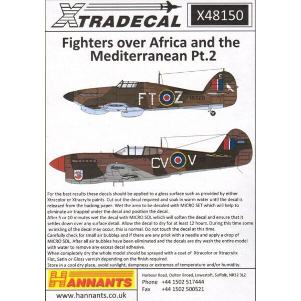 Fighters über Nordafrika und dem Mittelmeer Pt.2 (6) Hawker Hurricane Mk.IIc Trop HV560 FT-Z 43 Sqn S / Ldr M.Rook Algerien 1942