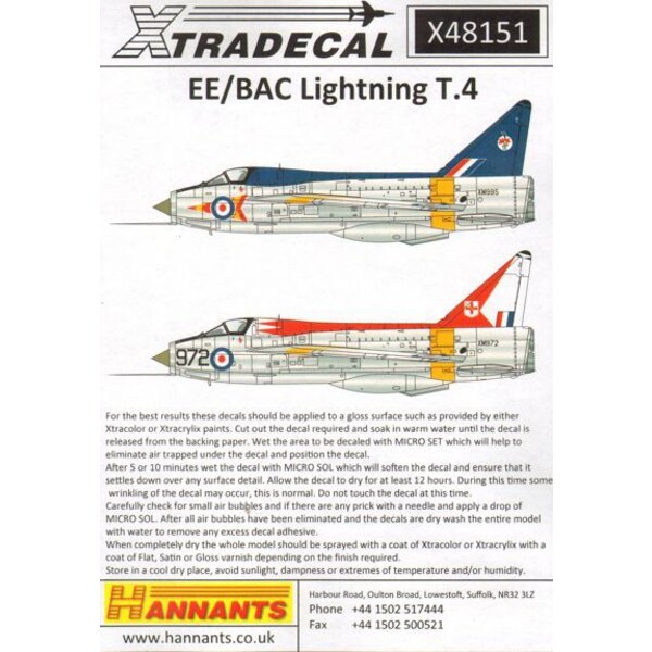 BAC / EE Blitz T.4 (3) XM974 / T 74 Squadron RAF Leuchars 1965 - XM995 / T 92 Squadron RAF Wildrenrath 1977 - XM972 / 972 226 OC