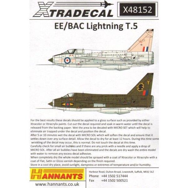 BAC / EE Blitz T.5 (5) XS459 / X 56 Squadron RAF Binbrook 1976 - XS452 Pink Flamingo Akrotiri Bahnhof Flug Zypern 1975 - XS452 /