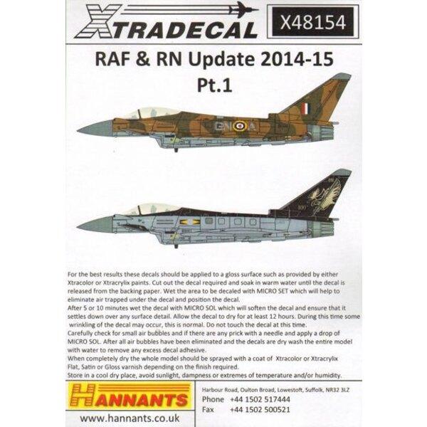 RAF / RN-Update 2015 (4) Battle of Britain und 100. Jahrestag bunten schemesPanavia Tornado GR.4 ZA461 XV (R) Sqn 100. Jahrestag