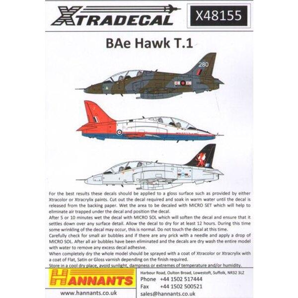 BAe Hawk T.1 / T.1A (27) War X48047 nun mit Korrektur für ETPS und Bonus Finne Markierungen für 2014 Red Arrows nachgedruckt.Di