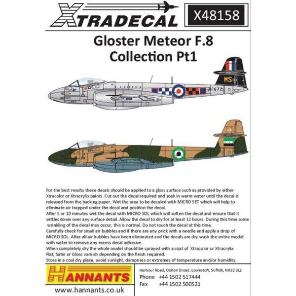 Gloster Meteor F.8 Sammlung Pt 1 (8) RAF.WF677 / MS Wg Com Maurice Shaw, Flügel Leiter 19, 72 und 85 Sqns RAF Aldergrove 1957 -