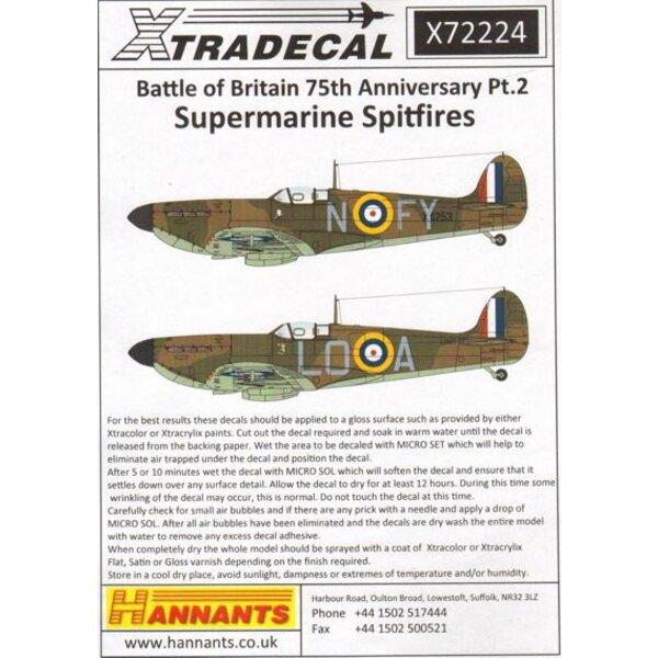 Spitfire Mk.Ia Battle of Britain 1940 Pt 2 (10) N3162 EB-G 41 Sqn P / O Eric Lock-RAF Hornchurch - EB-L 41 Sqn P / O Ted Shipman