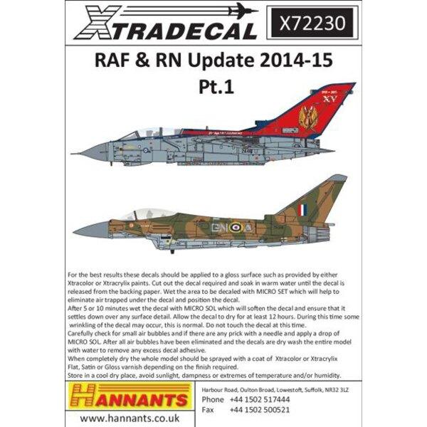 RAF / RN-Update 2015 (10) Einige sehr attraktiven und bunten Jahrestag schemes.BAe Hawk T.1A XX240 / 849 Royal Navy RNAS Culdros