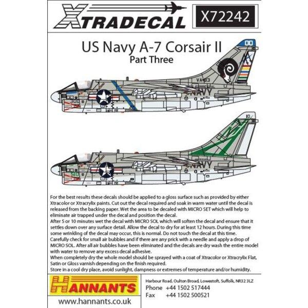 Bunte USN Vought A-7B / E Corsair Teil 3 (4) A-7B 154.390 NM / 510 VA-155 Silber Füchse USS Oriskany 1975a-7E 157.459 AA / 300 V