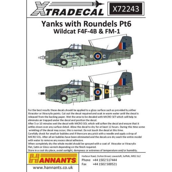 Amis mit Roundels Pt 6Grumman Mk.IV / Mk.V Wildcats (F4F-4) (8) FN121 0-9Z 888 NAS HMS Formidable Operation Torch 1942 - FN296 /