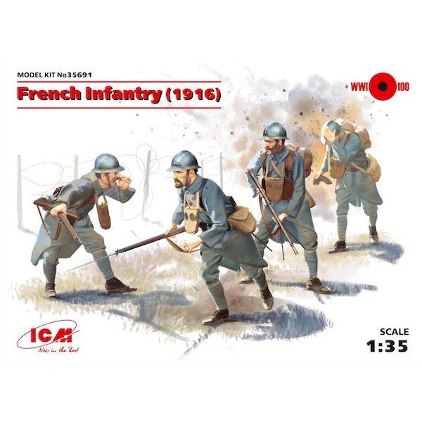 Französisch Infanterie (1916) (4 Figuren) (WWI) (100% neue Formen)