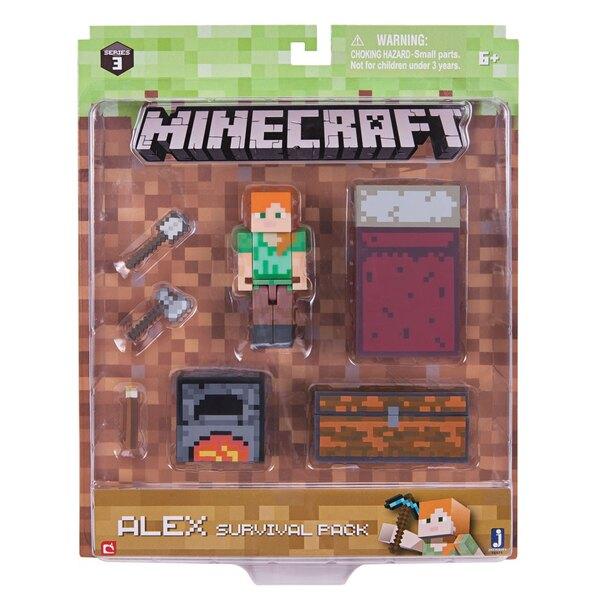 Minecraft Survival Pack Actionfigur Alex 8 cm