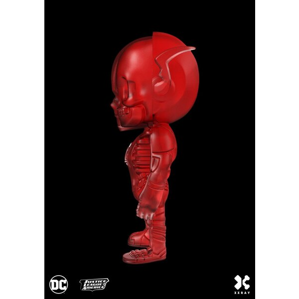 DC Comics XXRAY Figur The Flash Clear Red Edition 10 cm