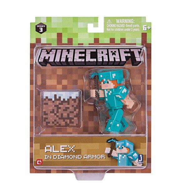 Minecraft Actionfigur Alex In Diamond Armor 8 cm