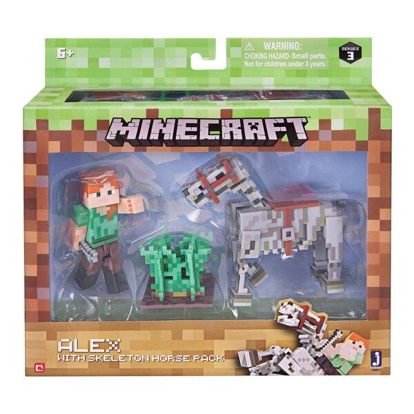 Minecraft Actionfigur Alex with Skeleton Horse 8 cm