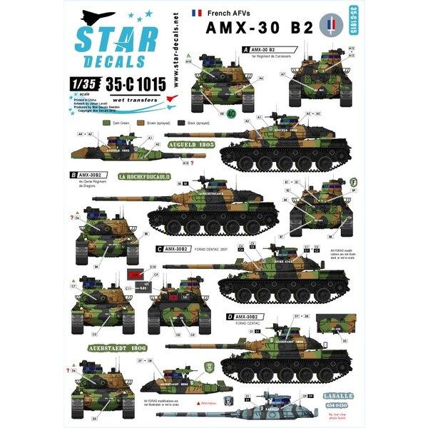 AMX-30B2 Französisch Kampfpanzer.Französisch Kalten Krieges und moderne Markierungen.