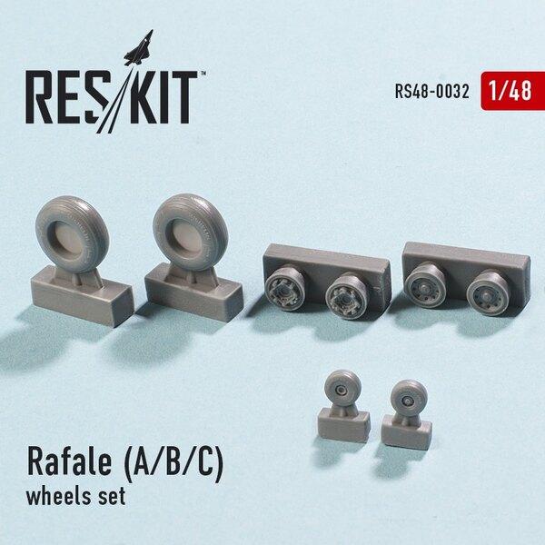 Dassault Rafale A / B / C Räder gesetzt (entworfen mit Hobby Boss und Revell-Kits verwendet)