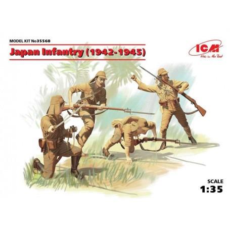 Japanische Infanterie (1942-1945) (WWII) (4 Zahlen) (100% neue Formen)