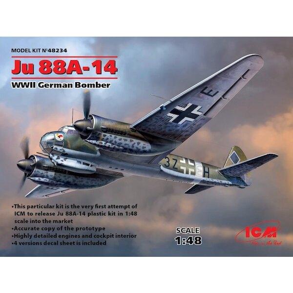 Junkers Ju-88A-14 WWII deutsche Bomber Diese besondere Kit ist der erste Versuch von ICM zu lösen Ju 88A-14 Kunststoff-Kit in 1: